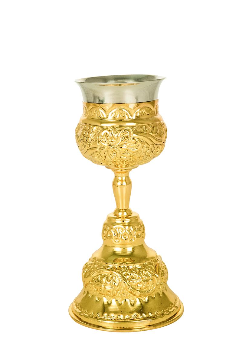 Ποτήρι Γάμου Σκαλιστό Επίχρυσο (103-12C)(G)