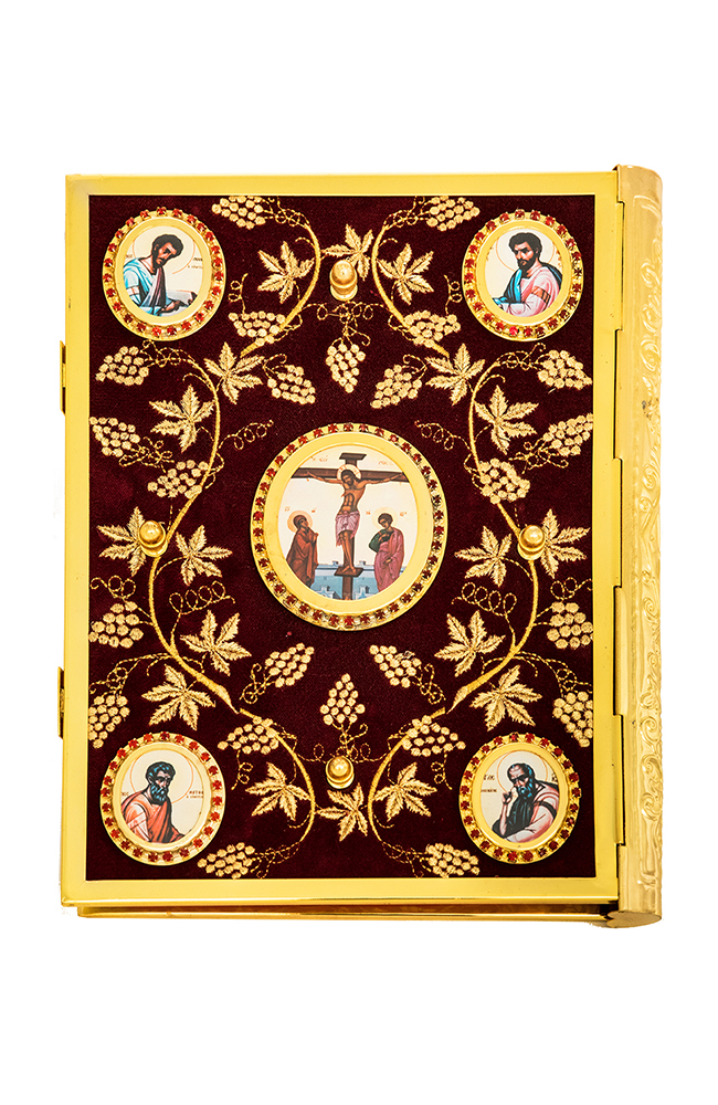 Ευαγγέλιο Βελούδο Μπορντό Χρυσοκέντητη Άμπελος-Εικόνες 102-73