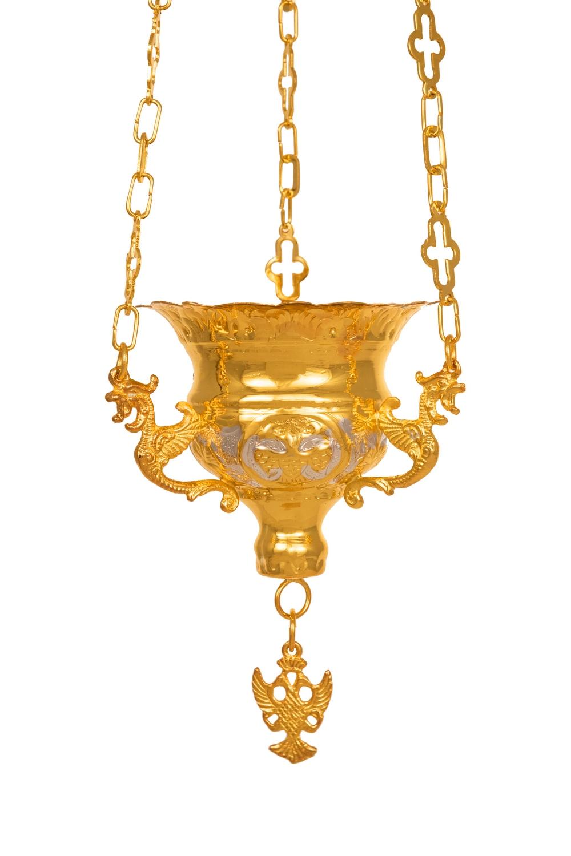 Κανδήλα Βυζαντινή Σκαλιστή Νο1 Δίχρωμη (111-01)