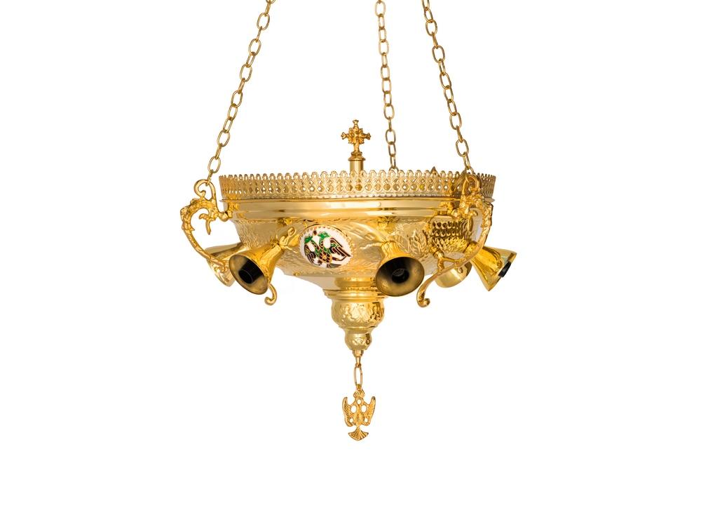 Εξάφωτο  Αγίας Τραπέζης Σμάλτινοι Δικέφαλοι (112-11)