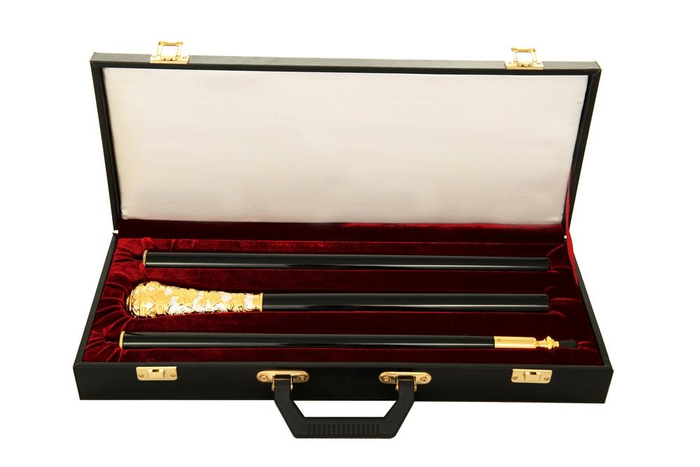 Μπαστούνι Σκαλιστό Σπαστό Δίχρωμο (135-13) + Βαλίτσα