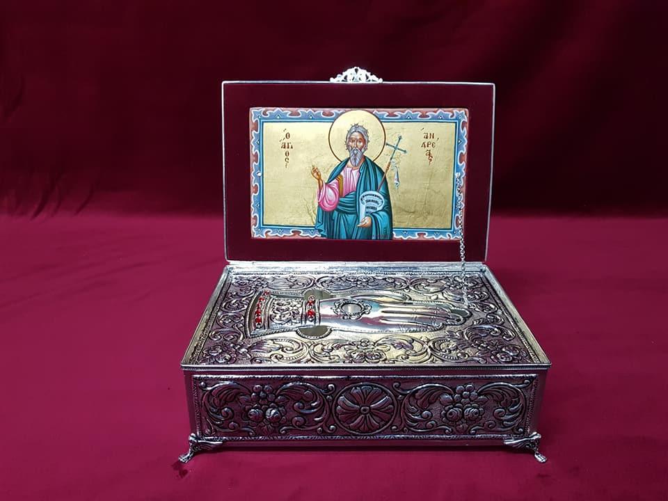 Κατασκευή Χειροποίητης Ασημένιας Λειψανοθήκης Αγίου Ανδρέα