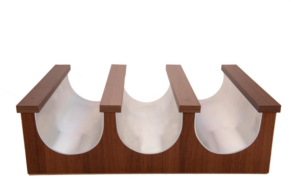 Трехместная деревянная скамья 208-30