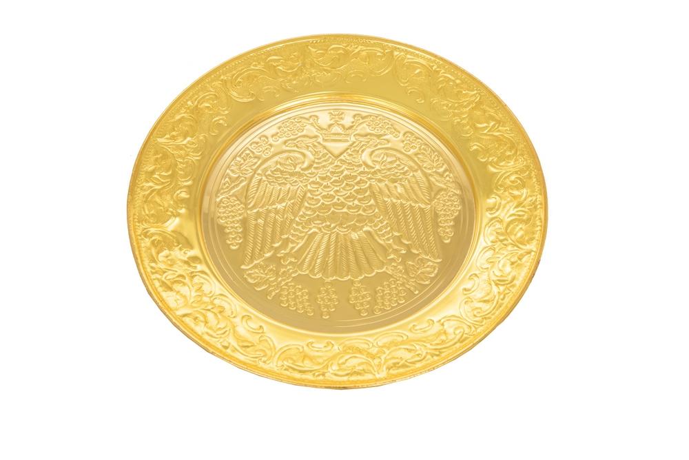 Δίσκος Αντιδώρου Σκαλιστός Β΄ Επίχρυσος (129-04)