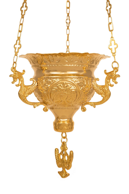 Κανδήλα Βυζαντινή Σκαλιστή Νο4 Επίχρυση (111-04)