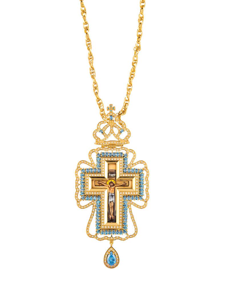 Επιστήθιος Σταυρός Επίχρυσος Ασημένιος (925) (ΣΤ14)
