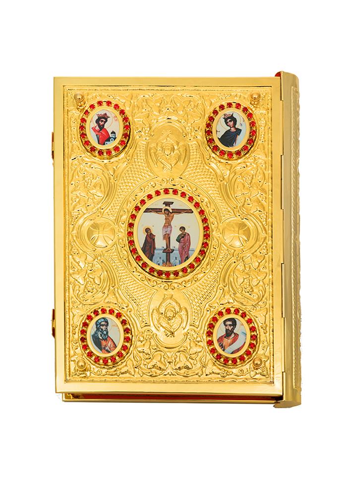 Ευαγγέλιο Πρέσας Μπακλαβωτό Εικόνες Επίχρυσο (102-90 P)