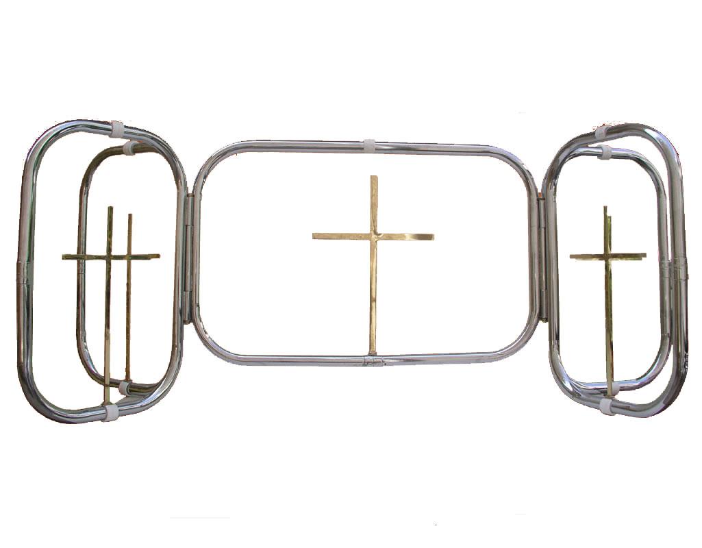 Funeral Table Crosses Chromium 193-04