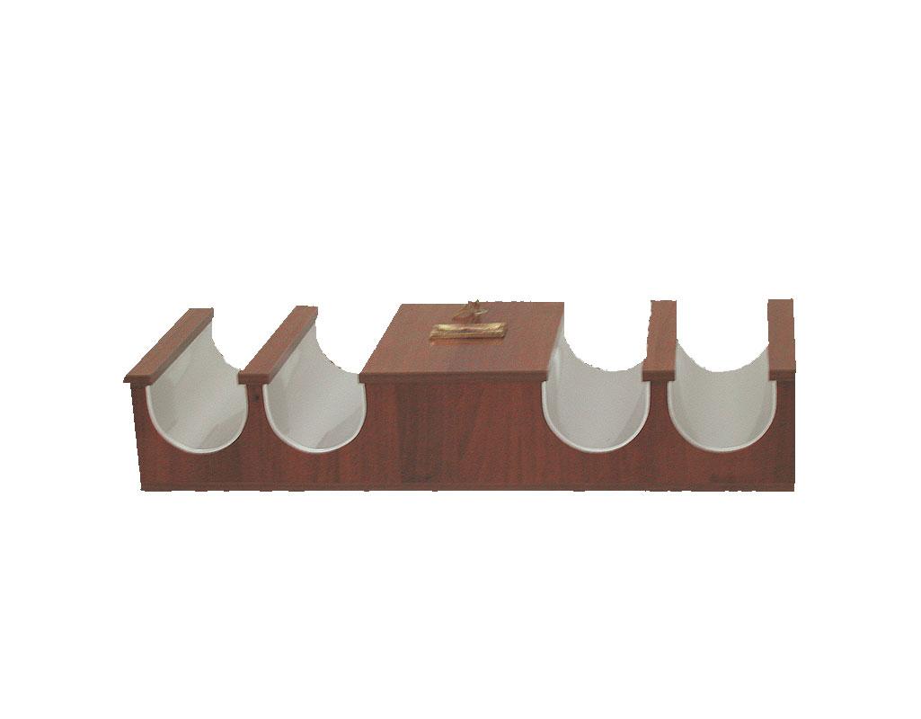 Κηροθήκη Ξύλινη 4 Θέσεων & Κουτί (208-37)