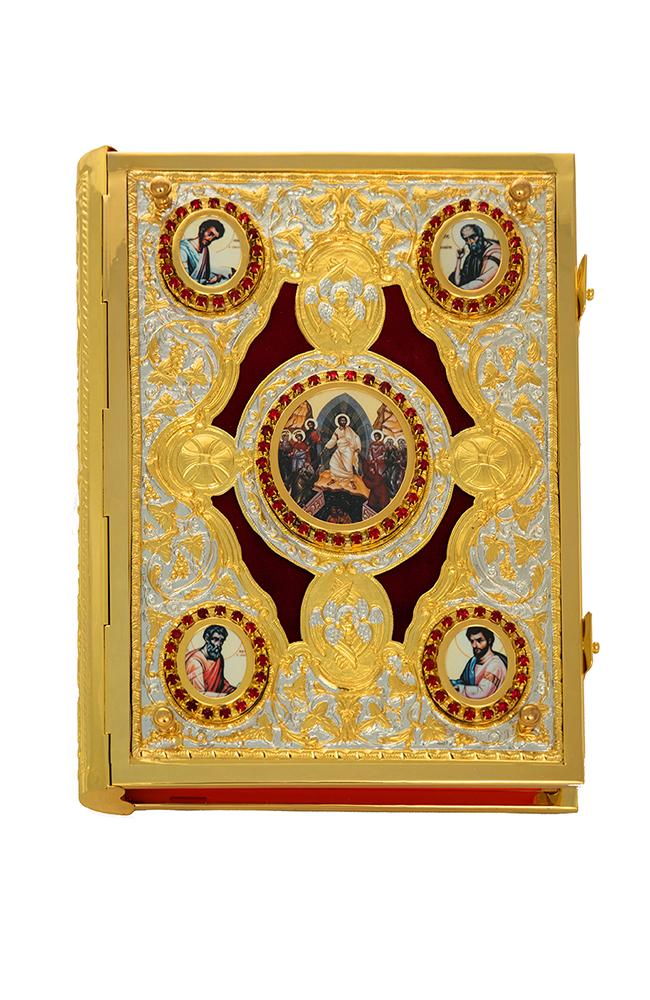 Ευαγγέλιο Μπακλαβωτό Εικόνες Βελούδο Δίχρωμο (102-91)
