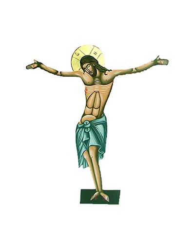 Εσταυρωμένος Αγιογραφία (60cm) (296-04)