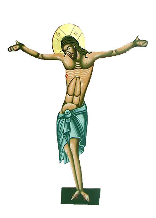 Εσταυρωμένος Αγιογραφία (100cm) (296-02)