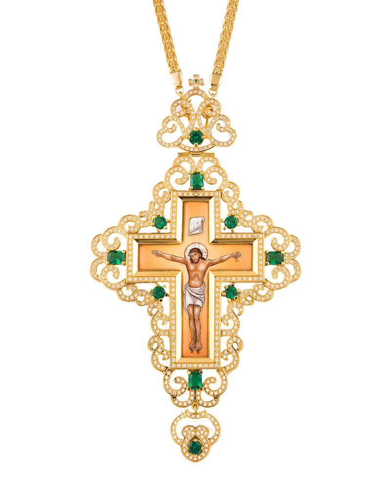 Επιστήθιος Σταυρός Επίχρυσος Ασημένιος (925) Μεγάλος (ΣΤ06)