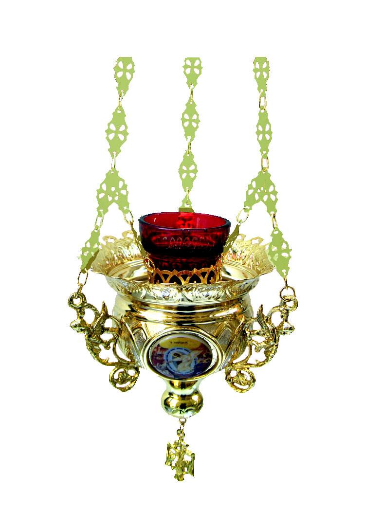 Κανδήλα Βυζαντινή Νο4 Δίχρωμη(Εικόνες Πορσελάνη)  (110-64)