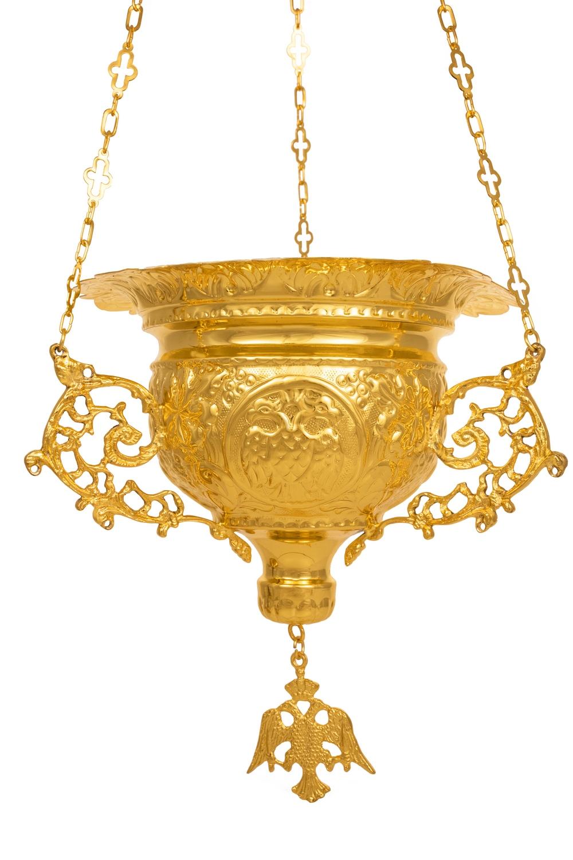 Κανδήλα Βυζαντινή Σκαλιστή Νο6 Επίχρυση (111-06)