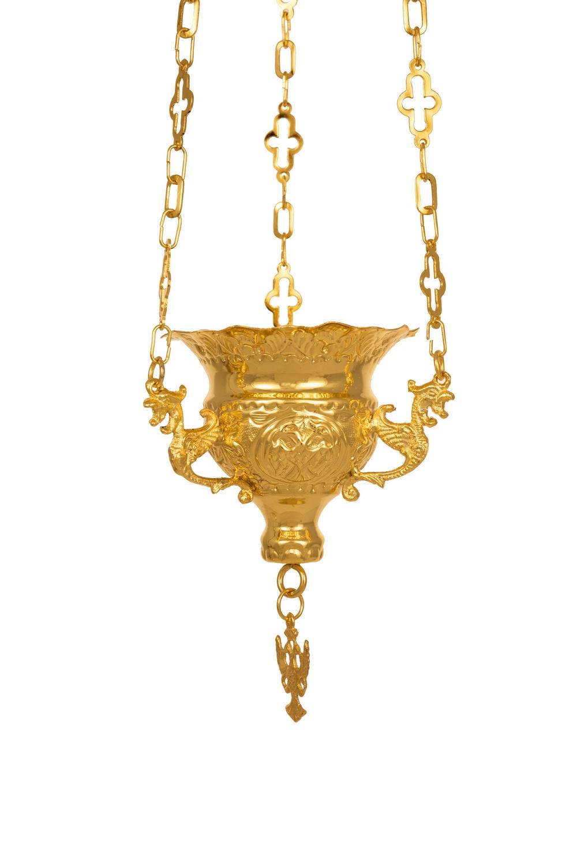 Κανδήλα Βυζαντινή Σκαλιστή Νο1 Επίχρυση (111-01)