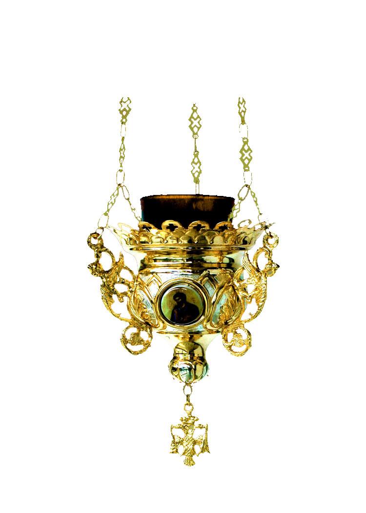 Κανδήλα Βυζαντινή Νο3 Δίχρωμη(Εικόνες Πορσελάνη) (110-63)