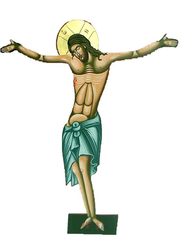 Εσταυρωμένος Αγιογραφία (120cm) (296-01)
