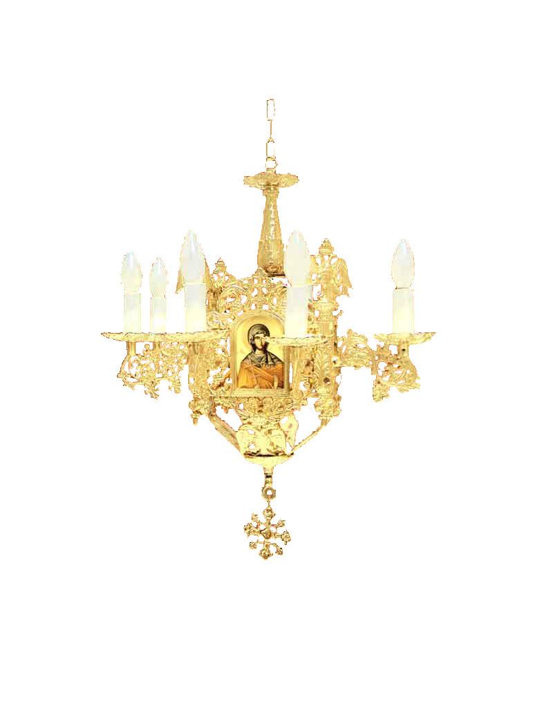 Πολυέλαιος Βυζαντινός Ορειχάλκινος 9Φ (253-01)