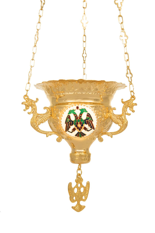 Κανδήλα Βυζαντινή Σκαλιστή Νο4 Σμαλτάκια Επίχρυση (111-04ΣΜ)