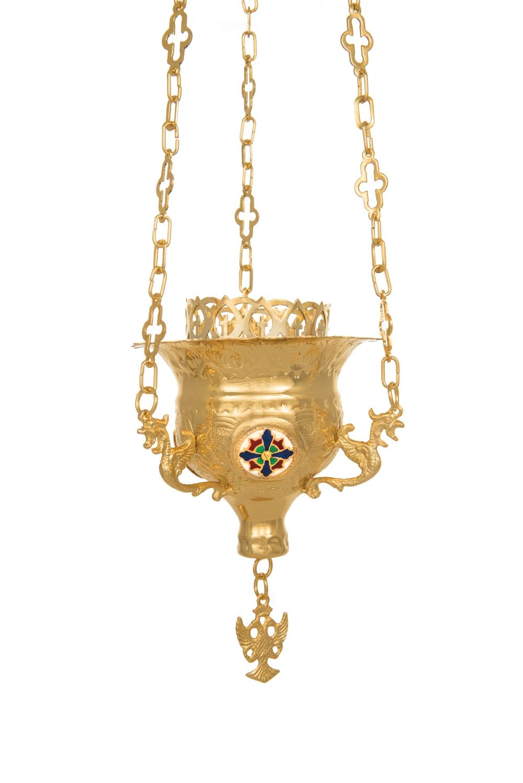 Vigil Lamps  Byzantine Carved Νο2 Enamel  (111-02SM)