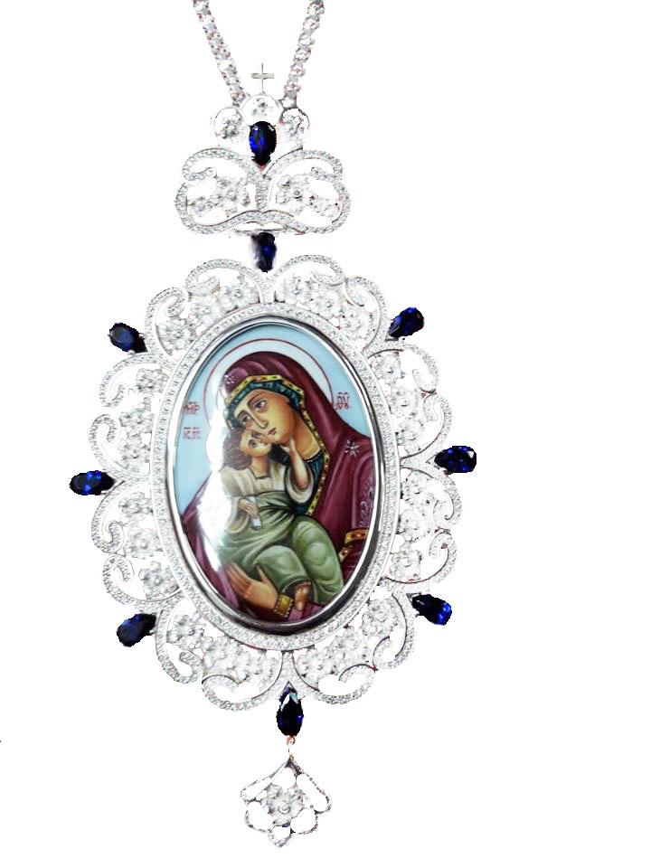Εγκόλπιο Επάργυρο Ασημένιο (925) Μεγάλο (ΕΓΚ12)