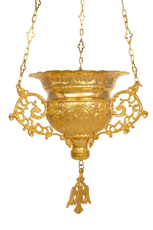 Κανδήλα Βυζαντινή Σκαλιστή Νο5 Επίχρυση (111-05)