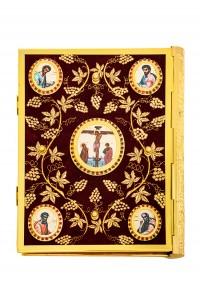 Ευαγγέλιο Βελούδο Μπλέ Χρυσοκέντητη Άμπελος-Εικόνες 102-73BLUE(AN)