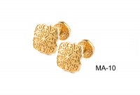 Cufflinks Gold-Plated Silver (925) (ΜΑ-10)