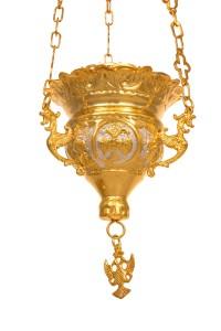 Κανδήλα Βυζαντινή Σκαλιστή Νο2 Δίχρωμη (111-02)
