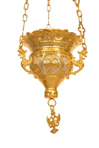 Vigil Lamps  Byzantine Carved Νο2 Bicolour (111-02D)