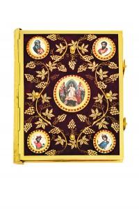Ευαγγέλιο Βελούδο Χρυσοκέντητη Άμπελος-Εικόνες (102-73G)