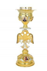Κανδήλα Αγίας Τραπέζης Βυζαντινή Νο2 Εικόνες Πορσελάνη Δίχρωμη(113-21D)