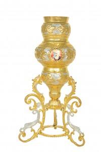Κανδήλα Αγίας Τραπέζης Φίδια Δίχρωμη (Εικόνες Πορσελάνη) (113-29)