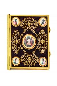 Ευαγγέλιο Βελούδο Χρυσοκέντητος Σταυρός - Εικόνα (102-74G)