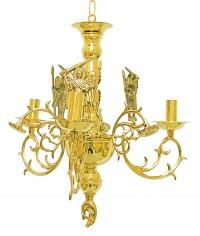 Πολυέλαιος Χυτός Λείος Αγιορείτικος 3Φ(Λουλούδι) (267-40Α)
