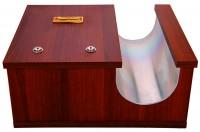 Κηροθήκη Ξύλινη 1 Θέση & Κουτί (208-35)