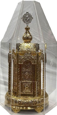 Hexagon Tabernacle, Round Base Bicolour ΑΑ' + Plexiglass(101-61plex)