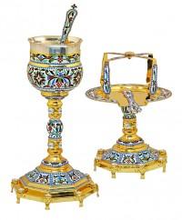 Δισκοπότηρο Εξάγωνο Βυζαντινό Σμάλτο 1 Κόμπος (103-05)