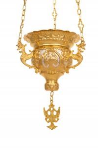 Vigil Lamps  Byzantine Carved Νο3 Bicolour (111-03D)