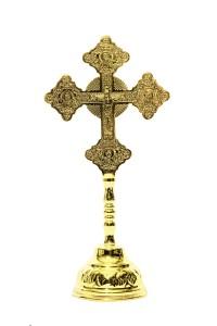 Σταυρός Ευλογίας Τσιγκογραφία Γ΄ + Βάση (123-10Β)