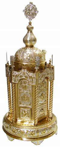 Hexagon Tabernacle, Round or Hexagon Base Bicolour ΑΑ' (101-61)