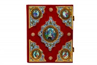 Ευαγγέλιο Σμάλτο Α΄ Κομματιαστό Βελούδο Μπορντό (102-01)