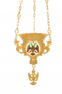 Vigil Lamps  Byzantine Carved Νο3 Enamel (111-03SM)
