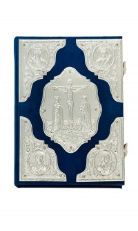 Ευαγγέλιο Κομματιαστό Βελούδο Λευκό (102-71)A (2)