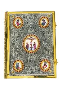 Ευαγγέλιο Μπακλαβωτό Εικόνες Μαύρη Πατίνα (102-90Β.Ρ)