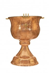 Baptismal font Bronze Polished Glaze Νο2 (155-04)