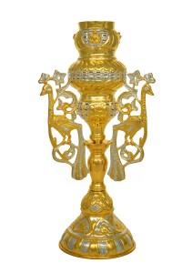 Κανδήλα Αγίας Τραπέζης Παγώνια Δίχρωμη (113-11)