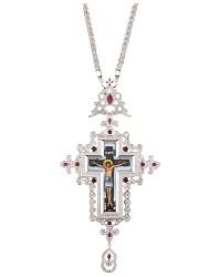 Επιστήθιος Σταυρός Επάργυρος Ασημένιος (925) (ΣΤ03)