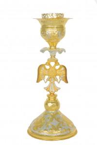 Κανδήλα Αγίας Τραπέζης Δικέφαλοι Δίχρωμη (113-15)